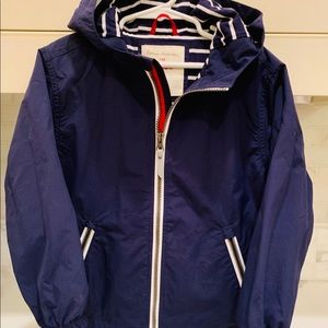 Hanna Anderson rain jacket in navy; like new